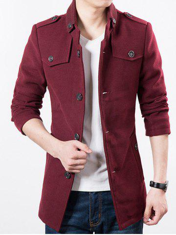 Panel Collar Multi Button Epaulet Jacket