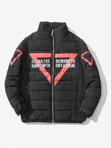 Shops Zip Up Graphic Printed Quilted Jacket