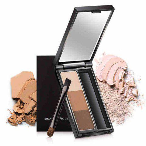 Best 3 Colours Waterproof Eyebrow Kit - COFFEE  Mobile