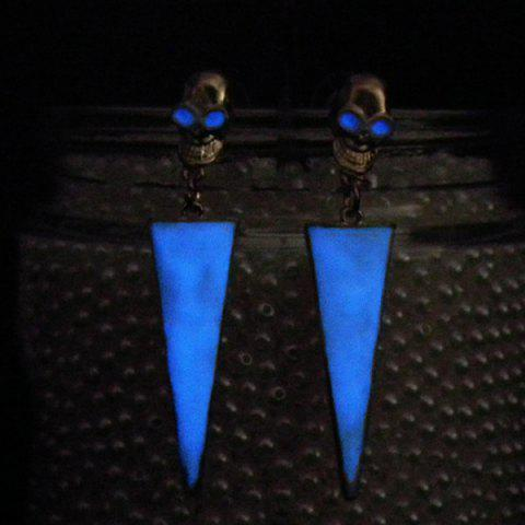 Cheap Noctilucence Skull Triangle Earrings