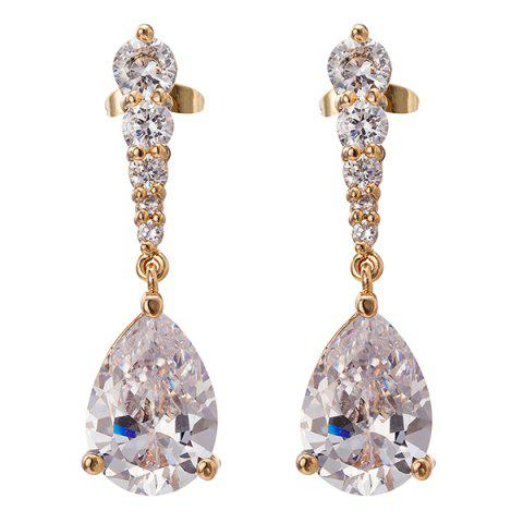 Outfit Rhinestone Water Drop Earrings