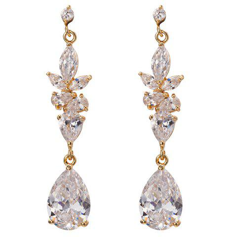 Latest Rhinestone Water Drop Dangle Earrings