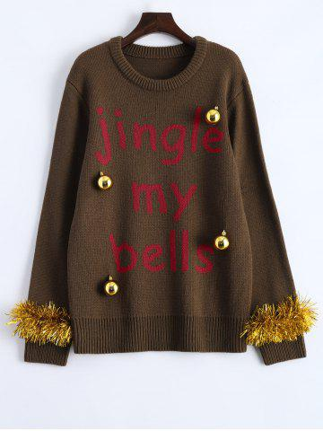 Outfit Christmas Decorations Embellished Graphic Sweater