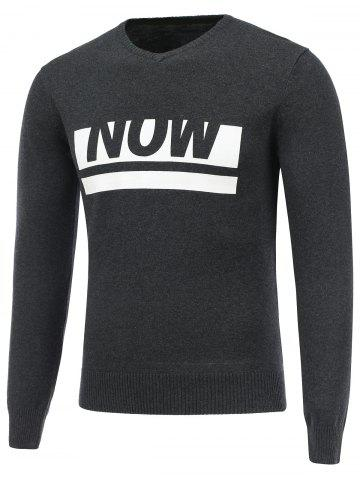 Sale Long Sleeve V Neck Now Sweater