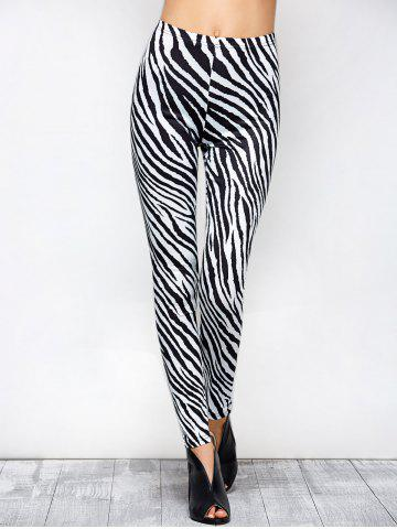 New Tight Zebra Stripe Christmas Leggings
