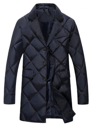 Latest Plus Size Argyle Thicken Lengthen Quilted Coat