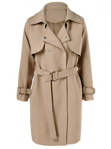 Sale Belted Draped Trench Coat