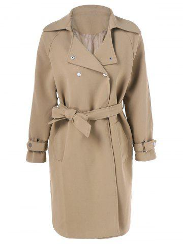 Hot Slit Belted Draped Trench Coat