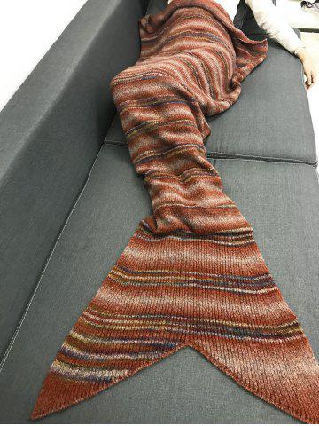 Latest Winter Thicken Stripe Throw Bed Mermaid Blanket