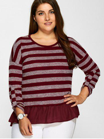 Buy Bowknot Decorated Striped Flounced T-Shirt