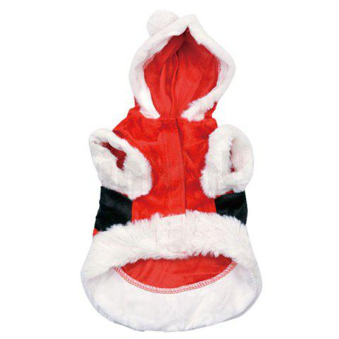 Buy Merry Christmas Party Supplies Pet Dog Waistcoat Jacket Clothes - XXS RED WITH WHITE Mobile