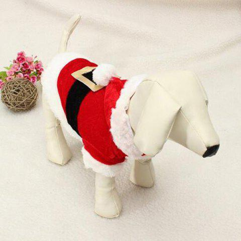 Store Merry Christmas Party Supplies Pet Dog Waistcoat Jacket Clothes - XXS RED WITH WHITE Mobile