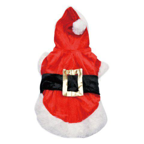 Hot Merry Christmas Party Supplies Pet Dog Waistcoat Jacket Clothes - XXS RED WITH WHITE Mobile