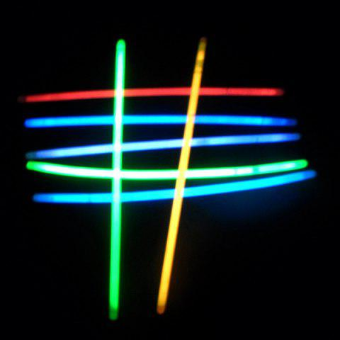 Hot 20PCS Christmas Party Supplies Colorful Glow Sticks - COLORFUL  Mobile