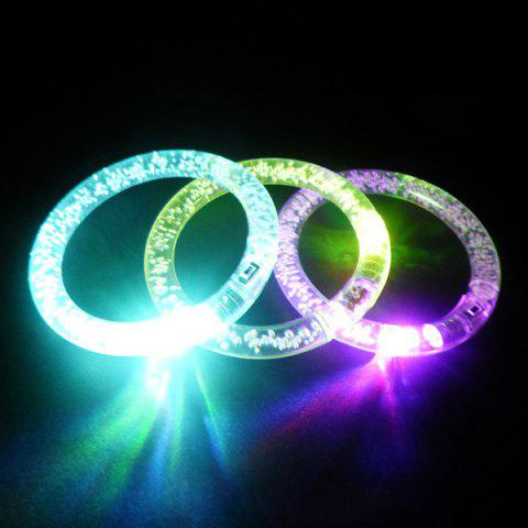 Buy 3PCS Color Changing Flashing Bracelet Christmas Decoration Supplies COLORFUL