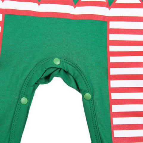 Shop Merry Christmas Baby Jumpsuit Clothes Set - L GREEN Mobile