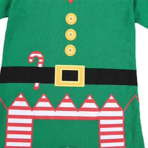 Shops Merry Christmas Baby Jumpsuit Clothes Set - S GREEN Mobile