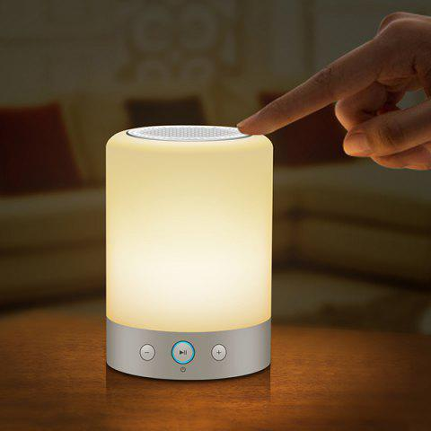 Affordable Laptop Wireless Bluetooth Sound System Night Light WHITE