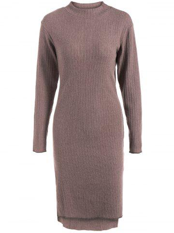 Latest Asymmetrical Knitted Dress
