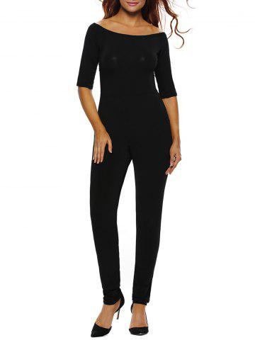 Buy Off The Shoulder One-Piece Jumpsuit BLACK L