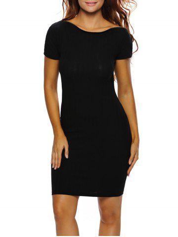 Unique Short Sleeve Fitted Dress