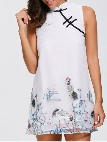Buy Floral Embroidered Mini Chinese Dress
