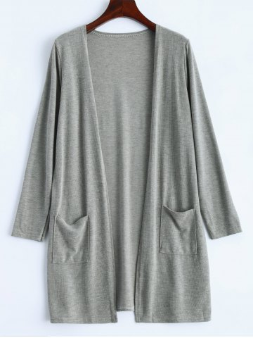 Discount Open Front Knitted Duster Cardigan