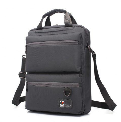 Fancy Pocket Nylon Zippers Backpack - GRAY  Mobile