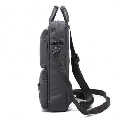 Store Pocket Nylon Zippers Backpack - GRAY  Mobile