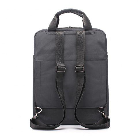 Buy Pocket Nylon Zippers Backpack - GRAY  Mobile