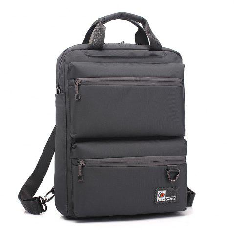 Affordable Pocket Nylon Zippers Backpack - GRAY  Mobile