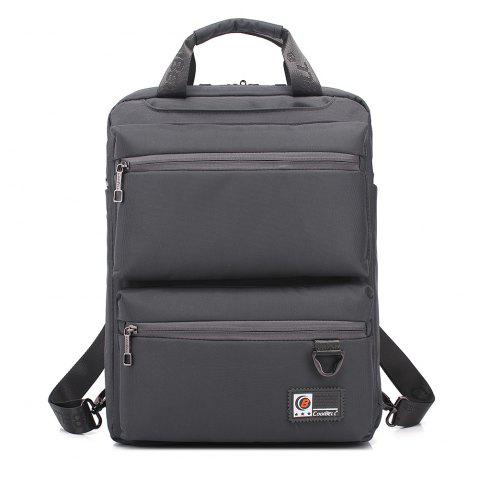 Cheap Pocket Nylon Zippers Backpack - GRAY  Mobile