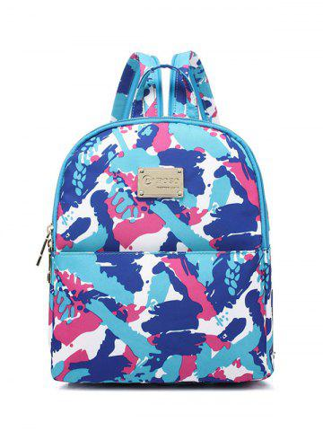 Store Nylon Printed Zippers Backpack