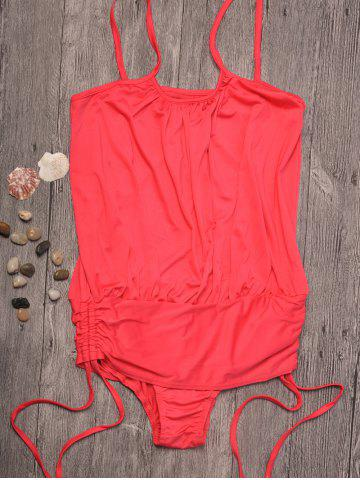 Shops Spaghetti Strap Ruched Swimwear