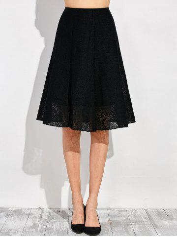 Outfit High Waist Lace Flare Dress
