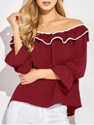 Shops Off The Shoulder Ruffles Top