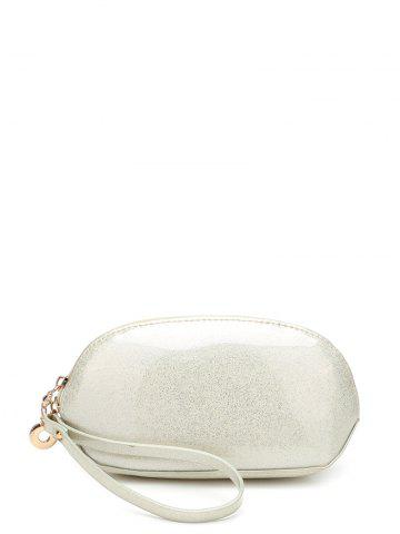 Zip Around Patent Leather Wristlet - Off-white
