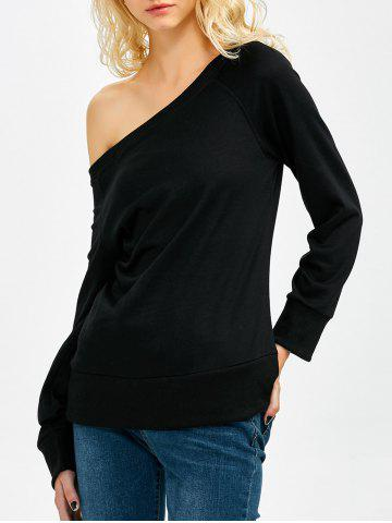Fancy One Shoulder Long Sleeve Sweatshirt