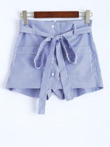 Latest Striped  Shorts with Pockets