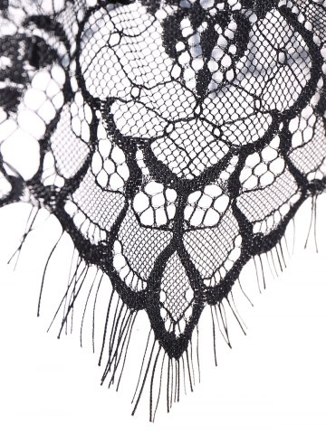 Buy Back Closure See Through Lace Seamless Bustier Bra - S BLACK Mobile