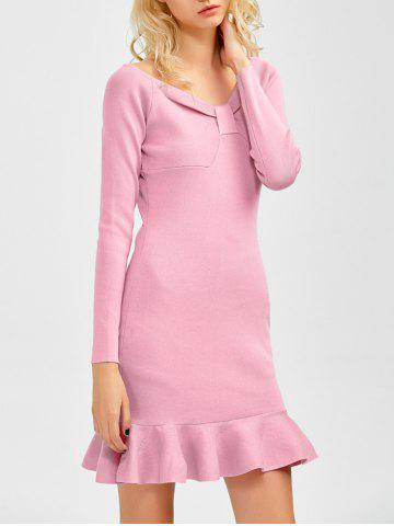 Best Long Sleeves Knitted Fishtail Bodycon Dress