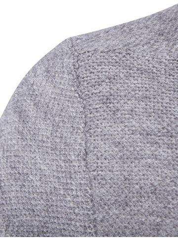 Hot Pocket Texture Open Front Cardigan - 2XL GRAY Mobile