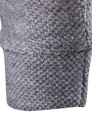 Best Pocket Texture Open Front Cardigan - 2XL GRAY Mobile