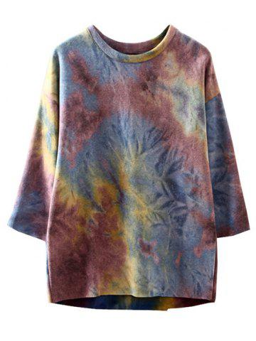 Hot High-Low Ombre Oversized Sweatshirt