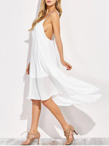 Fancy Backless High Low Chiffon Slip Beach Dress