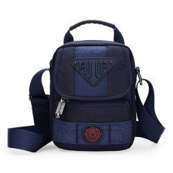 Zipper Dark Colour Nylon Crossbody Bag - DEEP BLUE