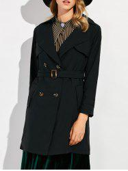 Double Breasted Slim Fit Trench Coat -