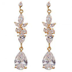 Rhinestone Water Drop Dangle Earrings