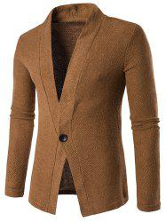 Knitted Texture One Button Cardigan