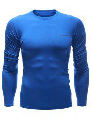 Quick Dry Long Sleeve Crew Neck Sports T-Shirt